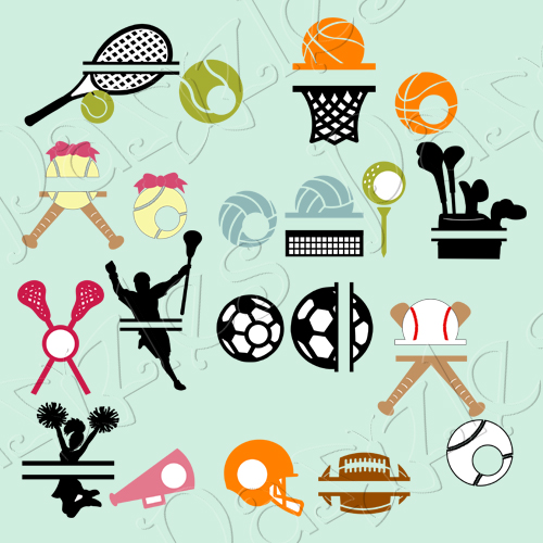 Sports Monograms Cutting Collection