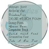 Journaling Font 2 - Physical Media (CD)