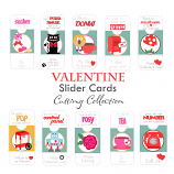 Valentine Slider Cards Cutting Collection