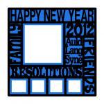 New Year Subway Art Overlay