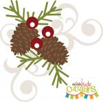 Pinecone with Berry