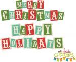 Merry Christmas Block Words