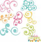Pretty Swirls Set of 7