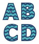 Chevron Monograms A-D