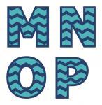 Chevron Monograms M-P