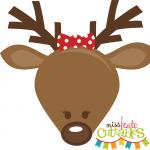 Cute Reindeer Girl Head