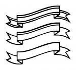 Line Drawn Striped Banner