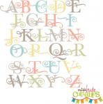 Flourish Uppercase Alphabet