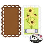Daisy with Scalloped Edge Card