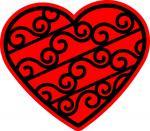 Swirl Slice Heart