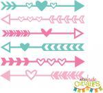 Heart Arrow Border
