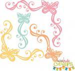 Butterfly Corner Flourishes