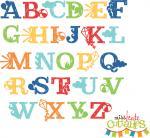Summer Uppercase Alphabet