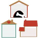 Shaped Journaling Collection: Houses