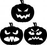Halloween Window Silhouettes: Mean Pumpkins