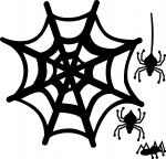 Halloween Window Silhouettes: Spiders