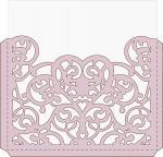 Elegant Card Sleeves Collection: Elegant Heart Square Envelope