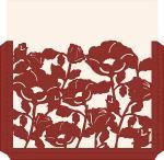 Elegant Card Sleeves Collection: Flower Square Envelope