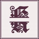 Split Monogram Collection: K