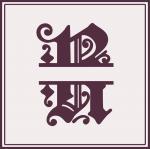 Split Monogram Collection: R