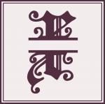 Split Monogram Collection: X
