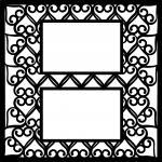 Wedding Embellishment Collection>Heart Lattice Overlay 2 Frames