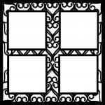 Wedding Embellishment Collection>Heart Lattice Overlay 4 Frames