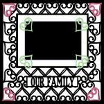 Wedding Embellishment Collection>Our Family Heart Overlay