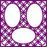Wedding Embellishment Collection>Rings Diagonal Lattice 3 Oval Frames