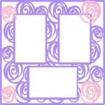 Wedding Embellishment Collection>Rose Overlay Frame