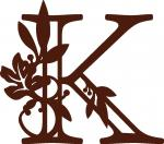 Fall Leaves Monogram Collection: K