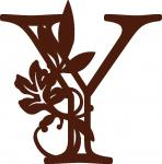 Fall Leaves Monogram Collection: Y