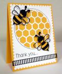 Easy Thank You Cards Collection: Honey Bee Thanks Card