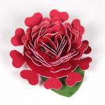 Spring Twirled Flowers Collection: Heart Petal Flower