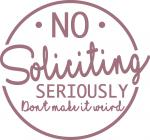 Home Signs Collection: No Soliciting2
