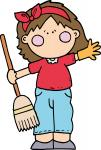 Spring Cleaning Girl