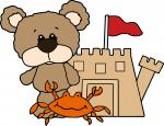 Bear with Crab and Sand Castle