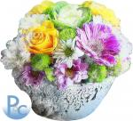 Watercolor Floral Bowl Click HERE for SVG