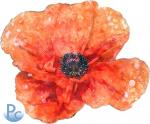 Watercolor Poppy Click HERE for SVG