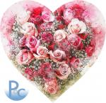 Watercolor Heart of Roses Smooth Click for SVG