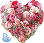 Watercolor Heart of Roses Click HERE for SVG
