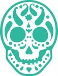 Paisley Sugar Skull-1