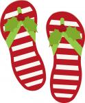 Holly Candy Cane Striped Sandals