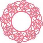 Rose Doily Frame