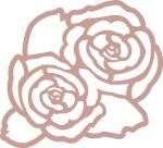 Double Rose Silhouette