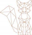 Geometric Fox Single Stroke