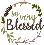 So Very Blessed Wreath