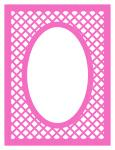 Frame with Oval and Lattice