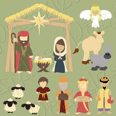 Away in a Manger Cutting Collection