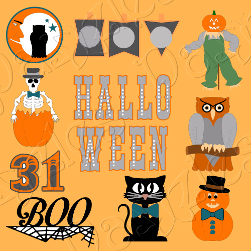 Halloween Parade Cutting Collection